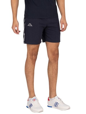 Kappa Logo Isapo Sweat Shorts - Blue Navy