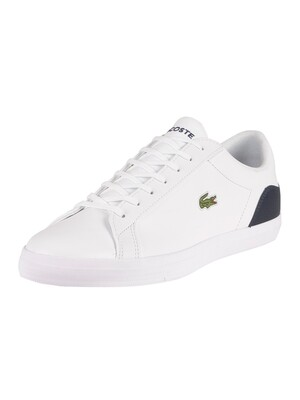 Lacoste Lerond BL21 1 CMA Leather Trainers - White/Navy