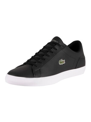 Lacoste Lerond BL21 1 CMA Leather Trainers - Black/White