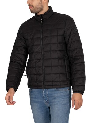Replay Logo Puffer Jacket - Black