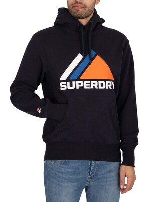 Superdry Mountain Sport Pullover Hoodie - Deep Navy