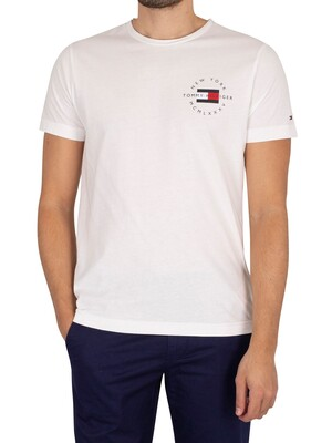 Tommy Hilfiger Circle Chest Corp T-Shirt - White