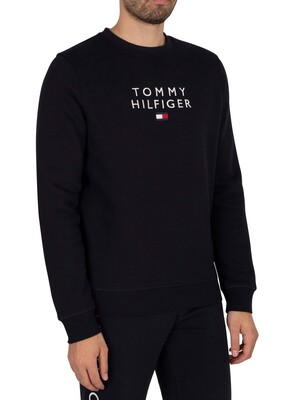 Tommy Hilfiger Stacked Flag Sweatshirt - Desert Sky