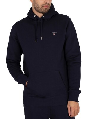 GANT Original Pullover Hoodie - Evening Blue