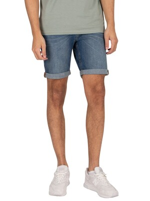 Jack & Jones Rick Original 005 Denim Shorts - Blue