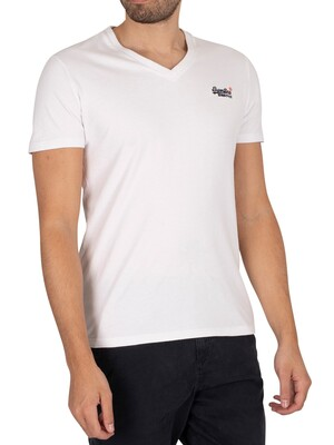 Superdry Original Logo V-Neck T-Shirt - Optic