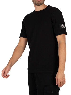 Calvin Klein Jeans Monogram Sleeve Badge T-Shirt - Black