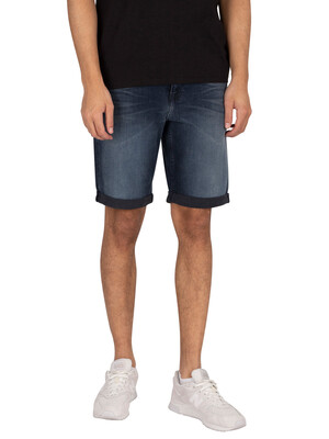 Calvin Klein Jeans Slim Denim Shorts - Dark