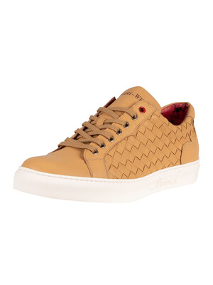Jeffery West Leather Trainers - Tan