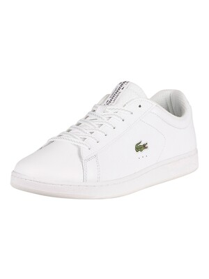 Lacoste Carnaby Evo 0520 1 SMA Leather Trainers - White/Off White