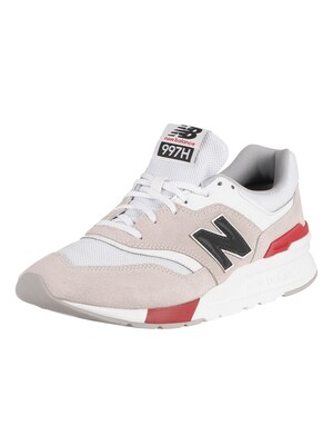 New Balance 997H Suede Trainers - White/Red