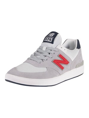 New Balance All Coasts 574 Suede Trainers - Grey/Navy