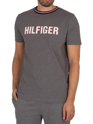 Tommy Hilfiger Lounge Graphic T-Shirt - Zinc Vigore/Recover