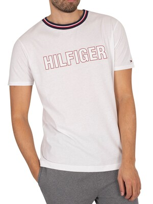 Tommy Hilfiger Lounge Graphic T-Shirt - White Heather