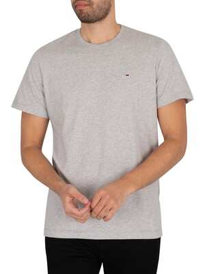 Tommy Jeans Classic Jersey T-Shirt - Light Grey Heather