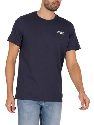 Tommy Jeans Regular Corp Logo T-Shirt - Twilight Navy