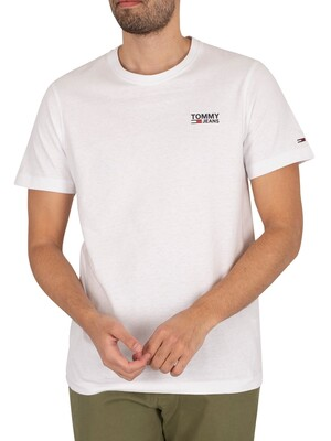 Tommy Jeans Regular Corp Logo T-Shirt - White
