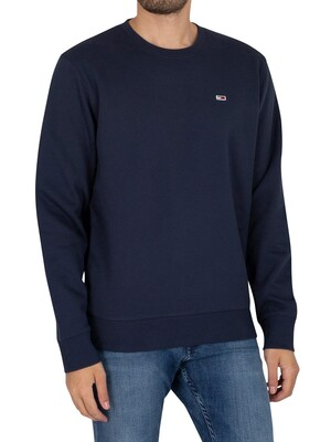 Tommy Jeans Regular Sleece Sweatshirt - Twilight Navy
