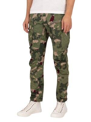G-Star Rovic Zip 3D Straight Tapered Cargos - Hatton Contour Camo