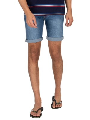 Pepe Jeans Cane Denim Slim Shorts - Blue