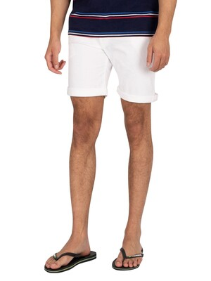 Pepe Jeans Cane Denim Slim Shorts - White