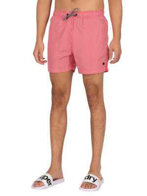 Superdry Studios Swim Shorts - Rouge Red Stripe
