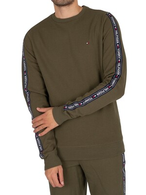 Tommy Hilfiger Lounge Track Sweatshirt - Olive Night