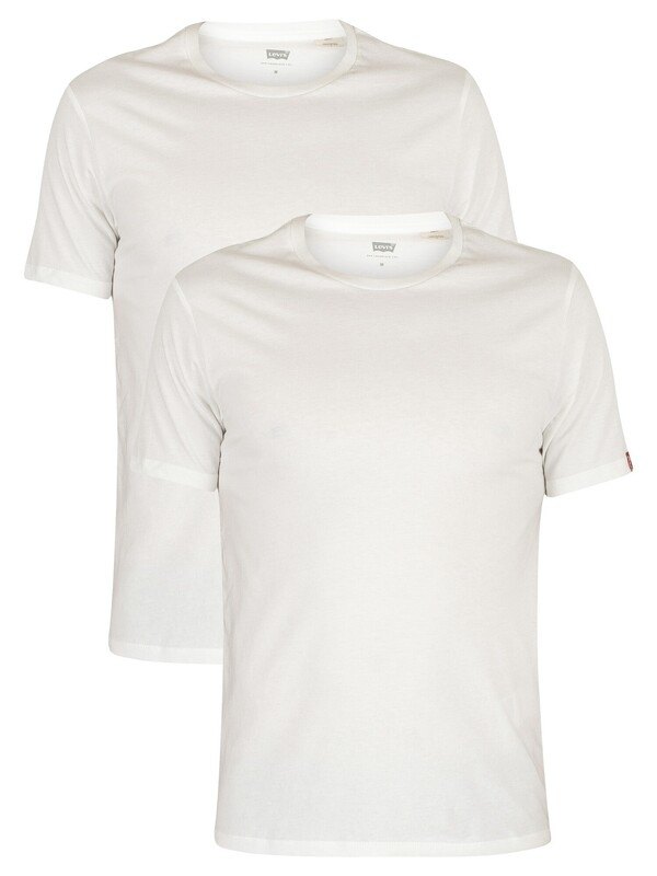 Levi's 2 Pack Crew T-Shirts - White