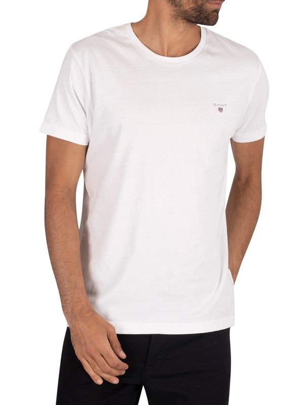 Gant White Solid Logo T-Shirt