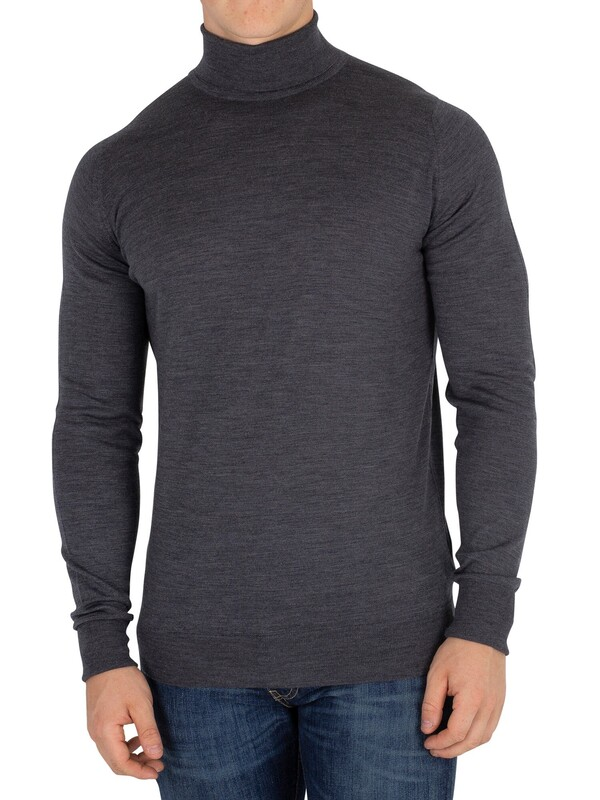 John Smedley Charcoal Richards Roll Neck Knit