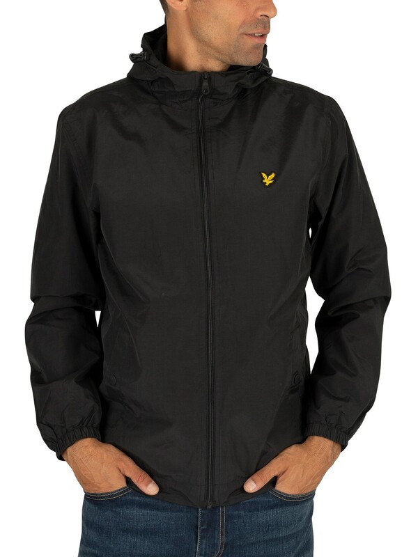 Lyle & Scott True Black Zip Through Hooded Jacket