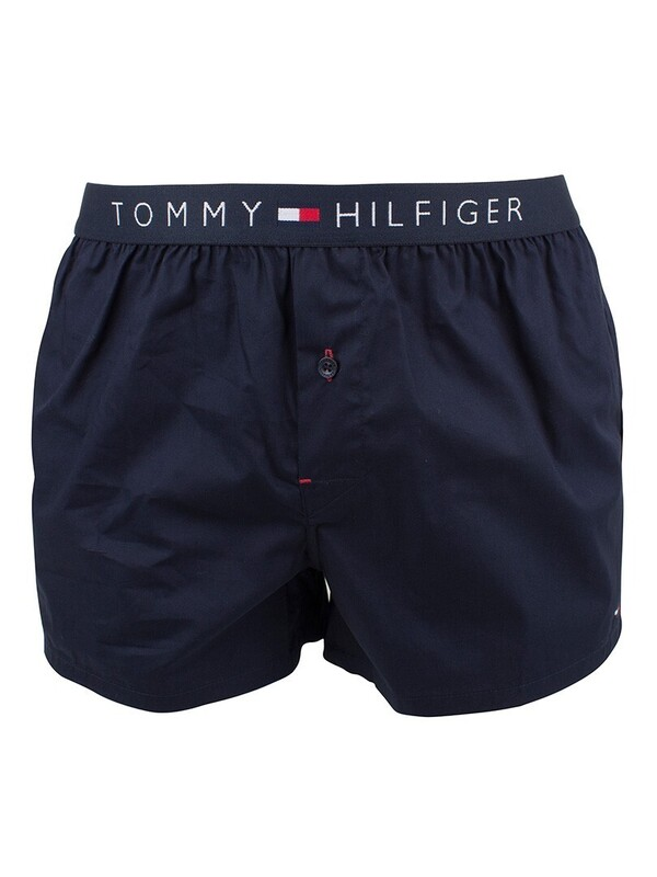 Tommy Hilfiger Icon Cotton Woven Boxer - Navy Blazer