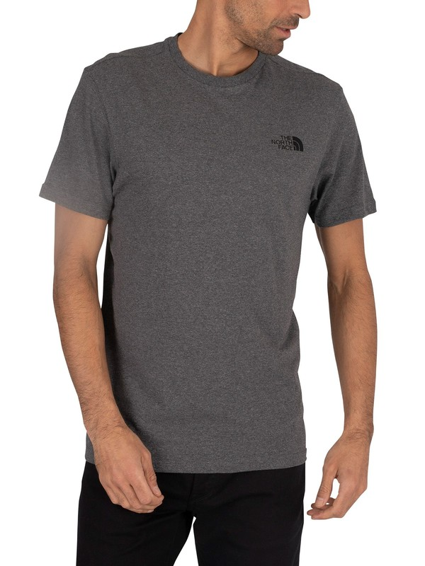 The North Face Simple Dome Marled Logo T-Shirt - Mid Grey Heather