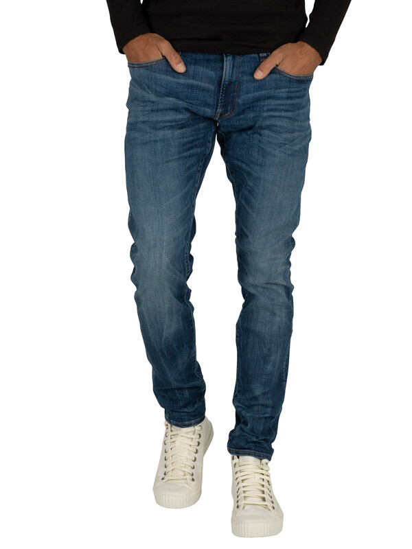 G-Star 3301 Deconstructed Super Slim Jeans - Medium Indigo
