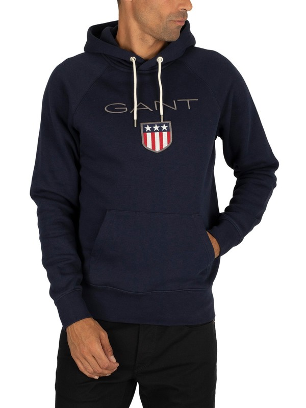 Gant Evening Blue Shield Sweat Hoodie