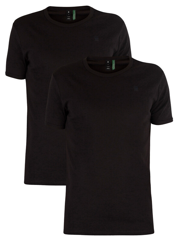 G-Star Black 2 Pack Slim Crew T-Shirts