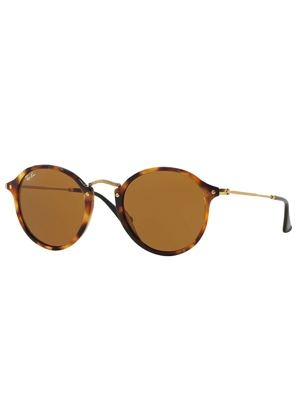 Ray-Ban Acetate Round Fleck Sunglasses - Brown