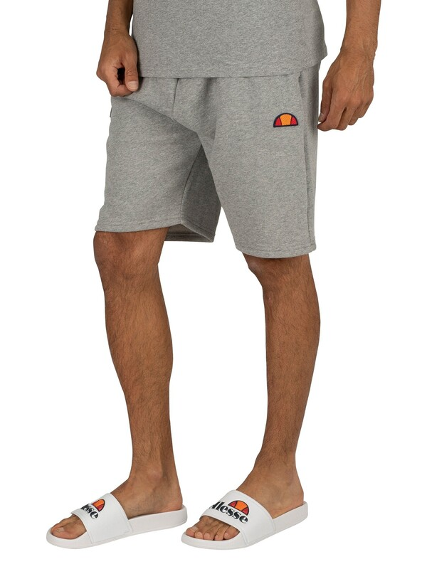 Ellesse Noli Fleece Sweat Shorts - Grey Marl