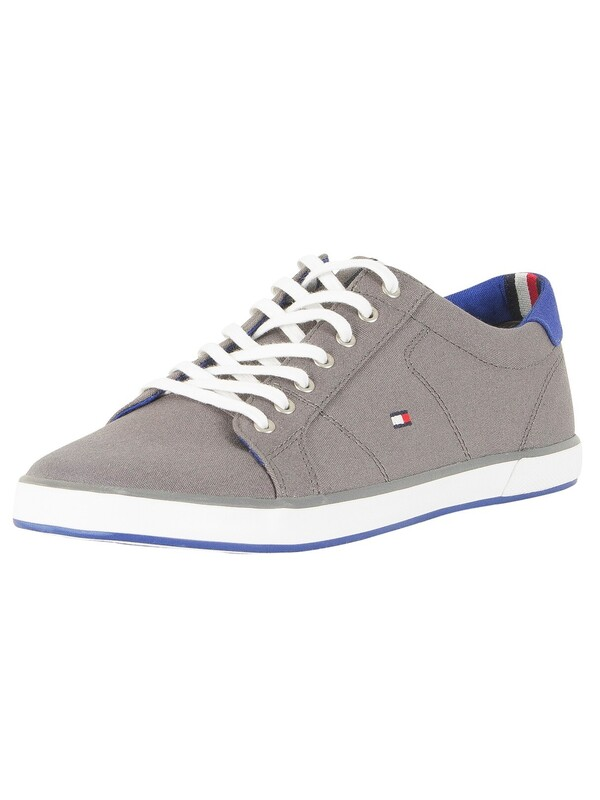 Tommy Hilfiger Flag Canvas Trainers - Steel Grey