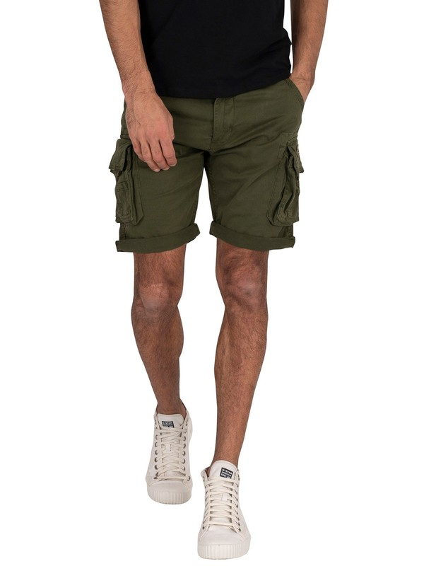 Alpha Industries Crew Cargo Shorts - Dark Olive