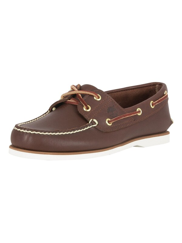 Timberland Classic Leather Boat Shoes - Dark Brown
