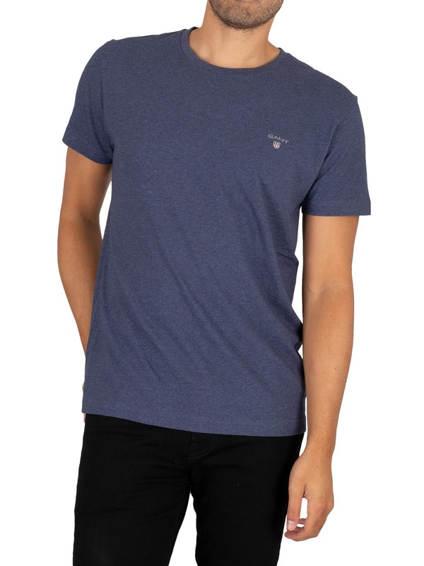 Gant Original T-Shirt - Dark Jeans Blue Melange