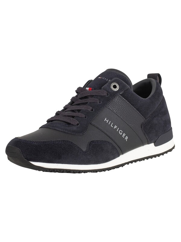 Tommy Hilfiger Iconic Leather Suede Trainers - Midnight