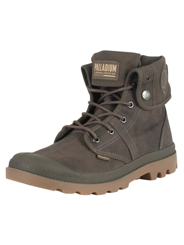 Palladium Pallabrouse Baggy Wax Boots - Major Brown/Gum