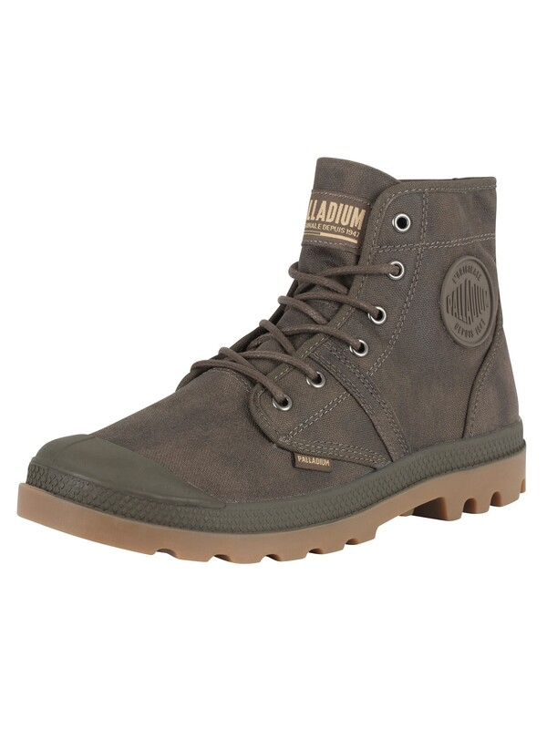 Palladium Pallabrouse Wax Boots - Major Brown/Gum