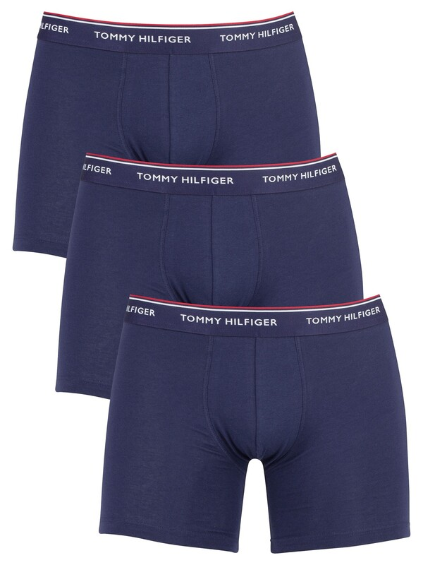 Tommy Hilfiger 3 Pack Premium Essentials Boxer Briefs - Peacoat