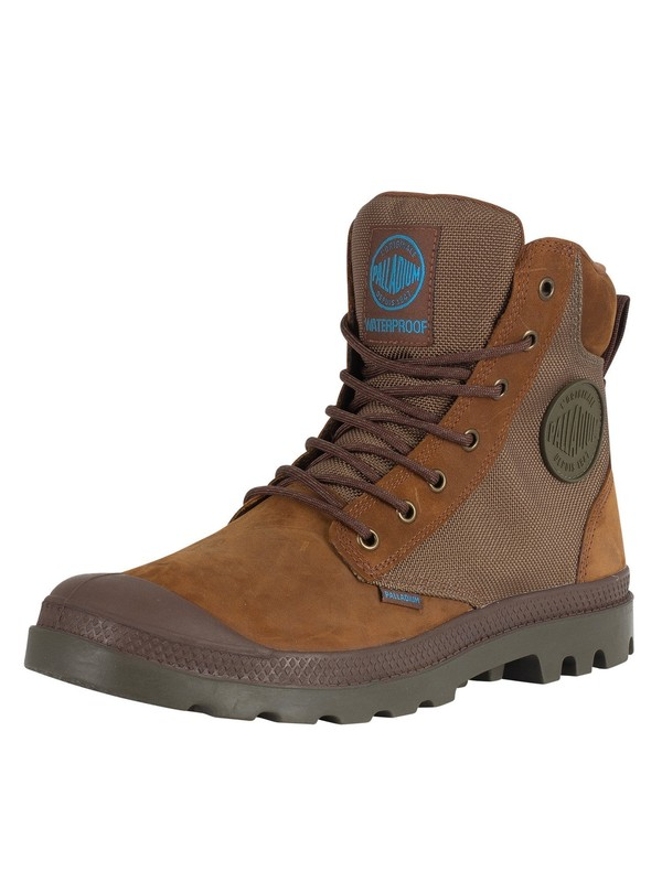 Palladium Pampa Sport Cuff WPN Boots - Bridle Brown/Moon Mist