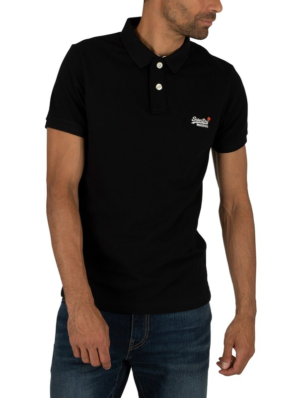 Superdry Classic Pique Polo Shirt - Black