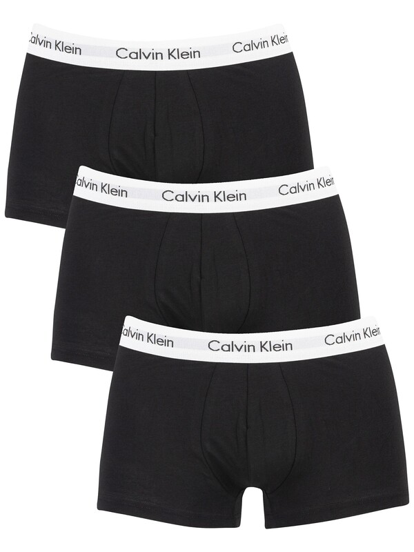 Calvin Klein 3 Pack Low Rise Trunks - Black