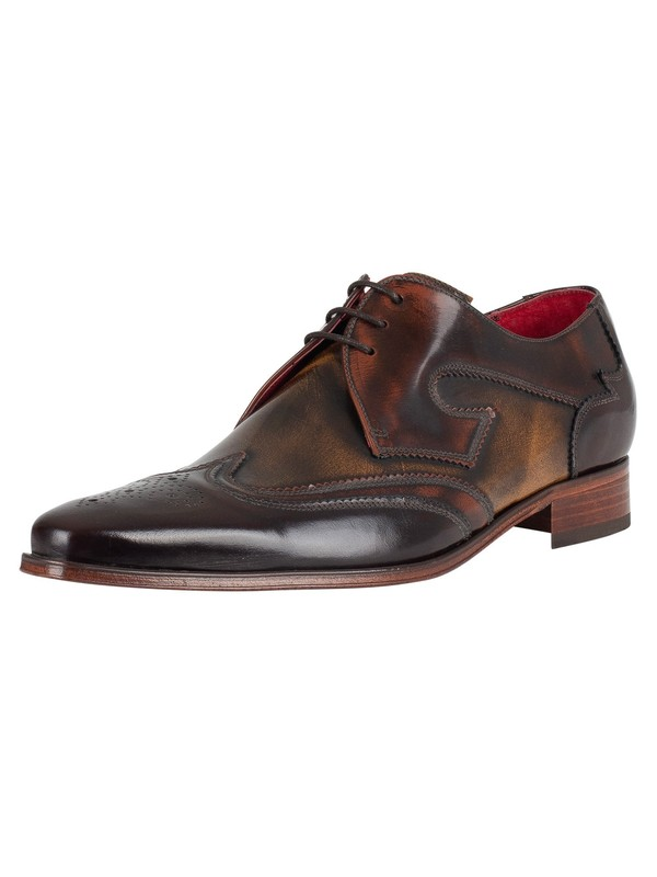 Jeffery West Yardbird Shoes - Brown Mix/Polish Leather
